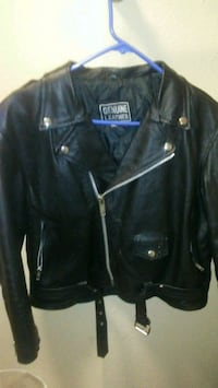 black leather zip-up jacket Olympia, 98502