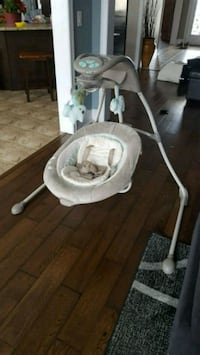 baby's white and gray cradle and swing Barrie, L4N 6M5