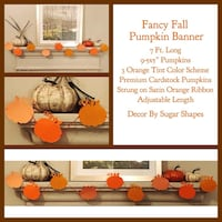 Large Custom Pumpkin Banner Farmers Branch, 75244
