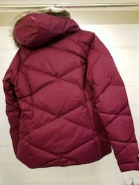 red zip-up bubble jacket Monrovia, 21770