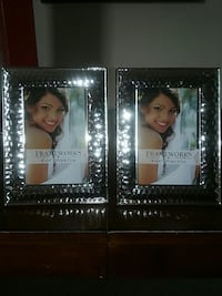 Set of silver photo frames.