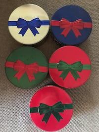 Harry London Festive Set of 5 Metal Cans - FREE 7729 km
