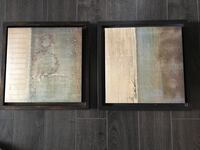 Two black wooden framed wall decors Spruce Grove, T7X 4P6