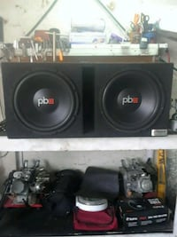 "Brand new powerbass 12"" subs in ported custom box 867 mi"
