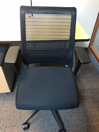 black leather padded rolling chair New York, 10002