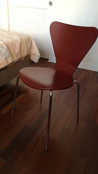 4 chairs (wood and metal legs), bought from Room & Board