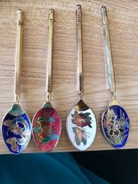 Cloisonne demitasse spoons, set of 4 Oakton, 22124