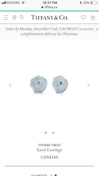 Tiffany Knot earrings perfect Christmas gift 545 km
