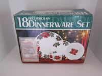 18 Piece Dinnerware Set for 4. New In Box Catharpin