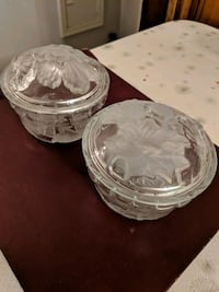 Pair of Crystal dishes with lids Niagara Falls, L2E 3K9