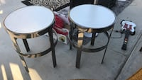 two round black wooden side tables Las Vegas, 89123