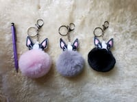 Dog Head Pom Pom Keychain  Woodbridge, 22193