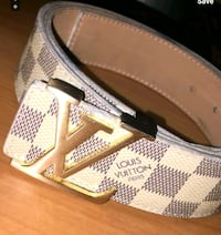 Louis Vuitton White Damier Belt Houston, 77074