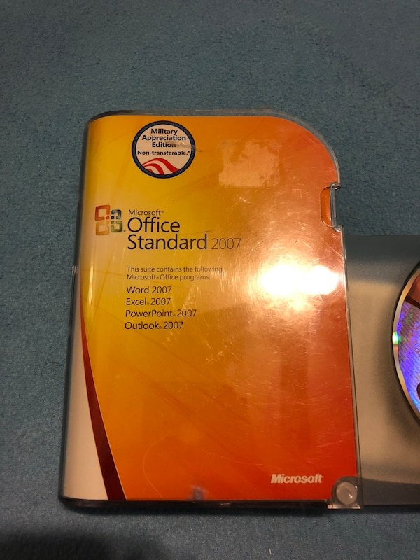 Microsoft Office Standard 2007 Military Edition (Word Excel Ppoint Outlook)