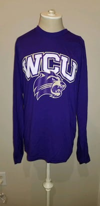 NWT Adidas WCU Western Carolina University Golf Catamounts TShirt Purp