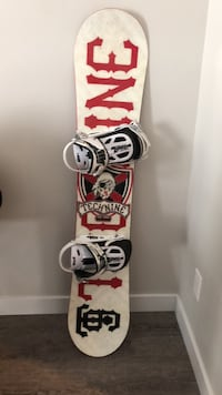 White and red snowboard with bindings St. Albert, T8N