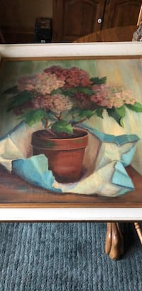 white and pink flowers painting Toms River, 08757