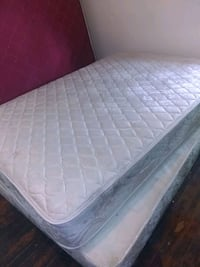 Queen mattress and box spring together Clinton Township