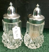Crystal Salt & Pepper shakers
