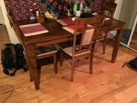 rectangular brown wooden table with four chairs dining set Washington, 20003