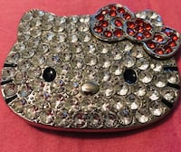 Hello kitty CZ rhinestone belt buckle!