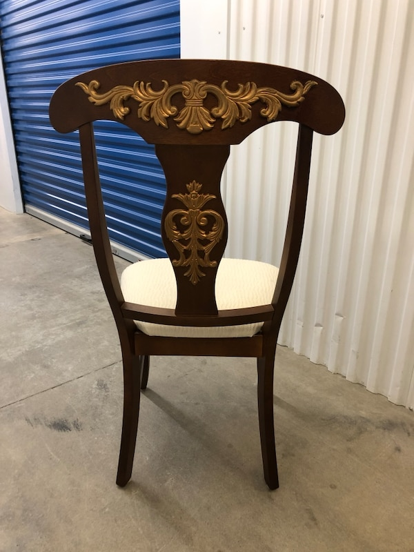 French style wood chair with gilded gold mounts