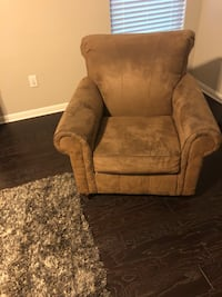 brown fabric sofa chair with ottoman Pflugerville, 78660