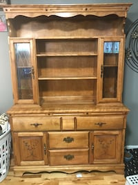 brown wooden cabinet with hutch Laval, H7R 5K6