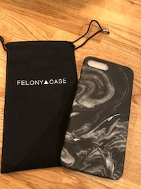 iPhone 8+ Felony marble phone case