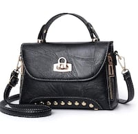 Crossbody, Shoulder Bag for Women PU Leather (Black and Red) Calgary, T3N 1J9