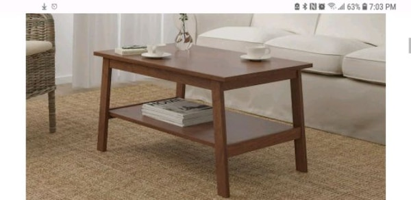 huge discount c7ea1 cddab IKEA Lunnarp coffee table in walnut