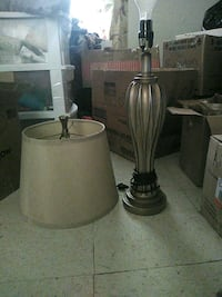 gray and white table lamp Walker, 70785