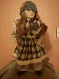 female doll in brown and white dress West Midlands, CV3 3HG
