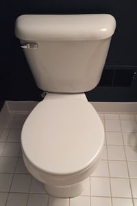 Toilet used very little in a guest bathroom. Works perfectly!