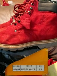pair of red suede work boots Walstonburg, 27888