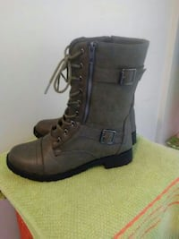 Pair of brown leather boots Sidney, 45365