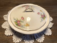 GUC Floral Canadian Sovereign Potters Covered Serving Dish with Lid Ajax, L1Z 1C9