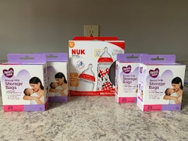 Bundle Nuk Bottle Set and Breast Milk Storage Bags