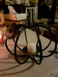 wrought iron pumpkin candle holder  Whitby, L1N 8X2