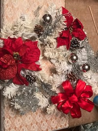 22 inch Christmas Wreath- easy porch pick up