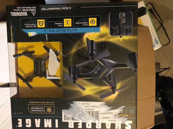 Used Brand New Sharper Image Rechargeable Dx 2 Stunt Drone 24 Ghz