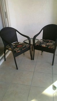 Frontgate rattan patio chairs and sm. glass table Sarasota, 34243