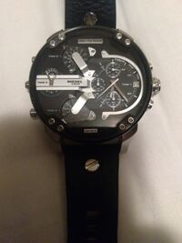 round black chronograph watch with black strap Vancouver