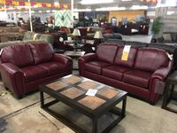 red leather 3-seat sofa and loveseat Schertz, 78154