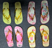 Novelty Flip-Flops, 4 pair, Size Ladies Large, 9-10M Tuscaloosa