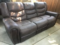 Brown Leather Reclining Couch  Los Angeles, 91423