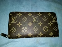 black and brown Louis Vuitton leather wallet