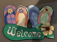 assorted-color Welcome signage