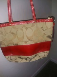 khaki coach purse red trim Nashville, 37115