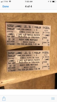 Darius Rucker and Lady A tickets McCordsville, 46055
